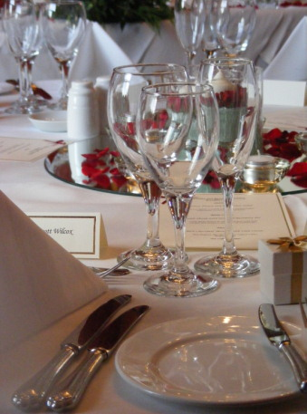 Glasses on a Table at Fennes Estate
